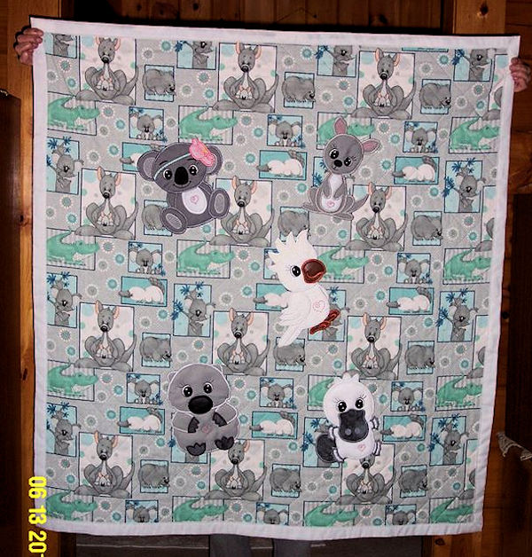 Kangaroo Quilt by Sandy