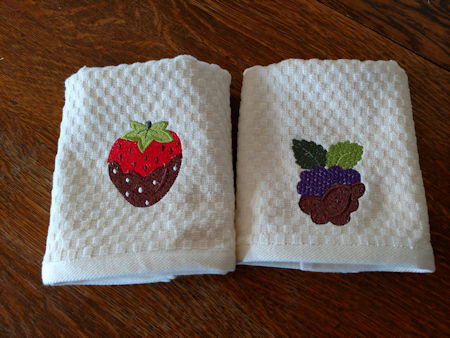 strawberry chocolate embroidery design