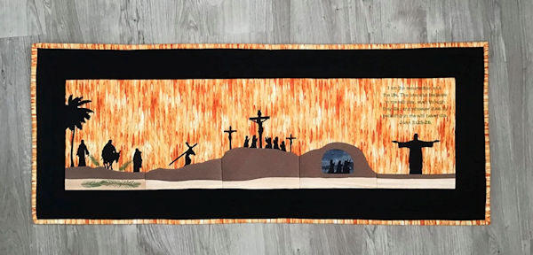 Resurrection Table Runner Embroidey Design by Darina