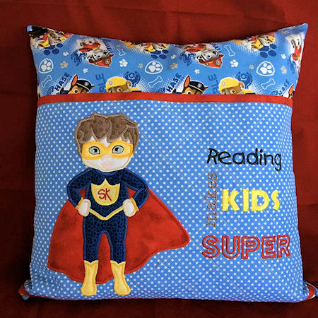 Superkid reading pillow