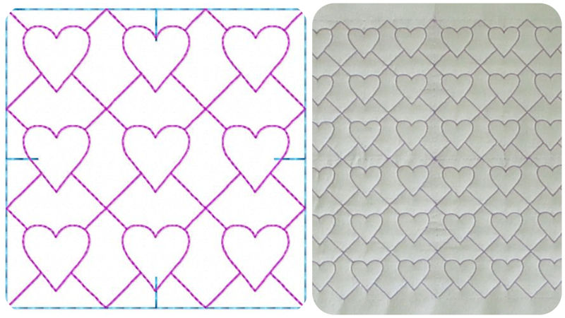 4x4 Heart Quilting with Alignment