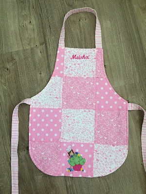 Apron made with squares