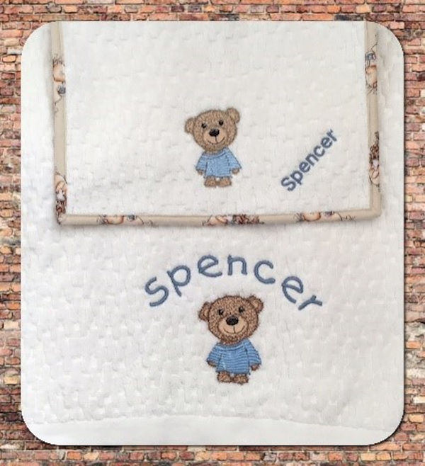 Scruffy Bear Burp Cloth