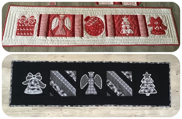 Free Christmas Table Runner Project by Darina