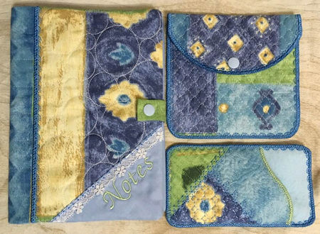 In the hoop Notebook Cover stitched by Faye KK0911