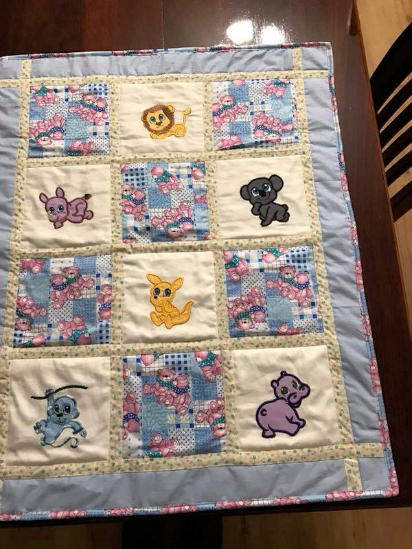 Zoo Applique Quilt