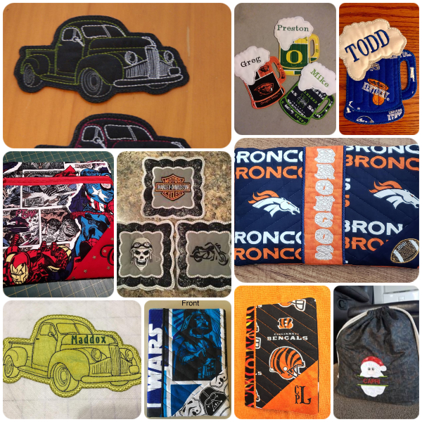 Machine Embroidery Gift Ideas for Men