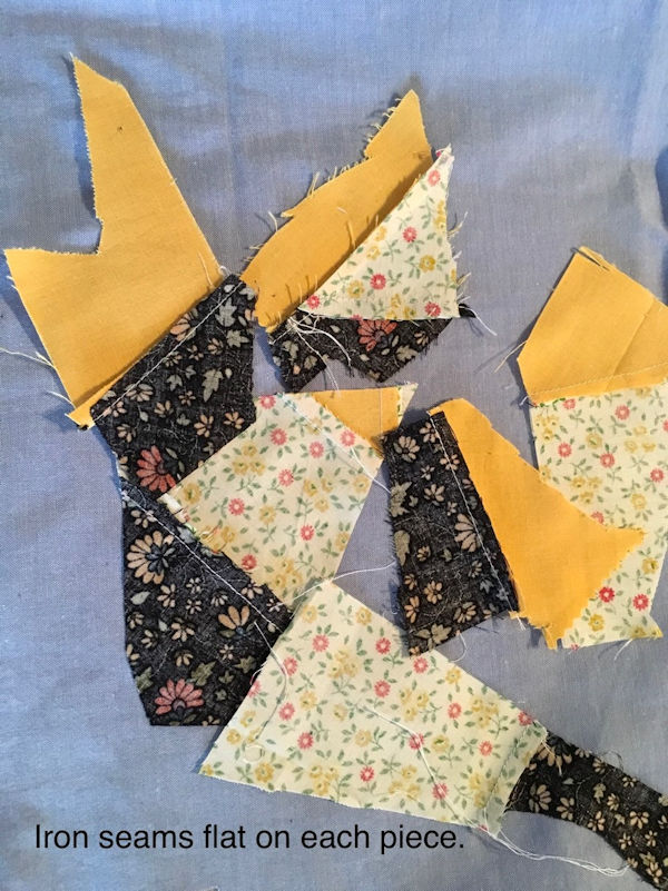 Make your own Crazy Patch Fabric - Step 4
