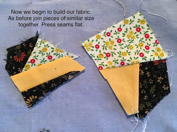 Make your own Crazy Patch Fabric - Step 5
