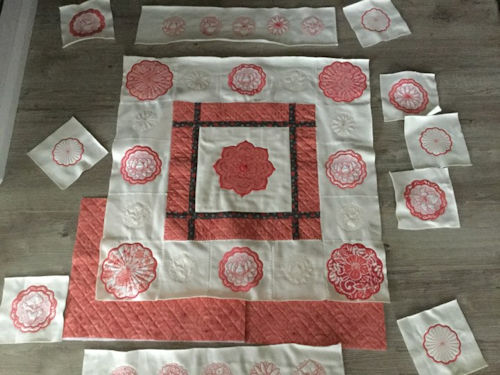 Coral Quilt in construction