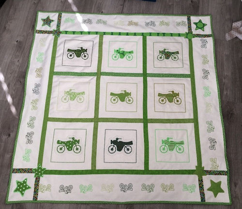 Flannel Motorcycle Quilt