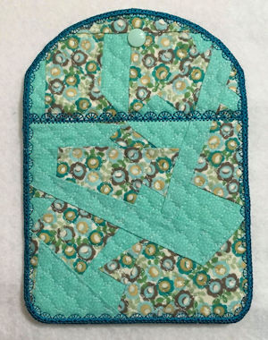 Quilt Bag using Crazy Patch Fabric by Faye -a
