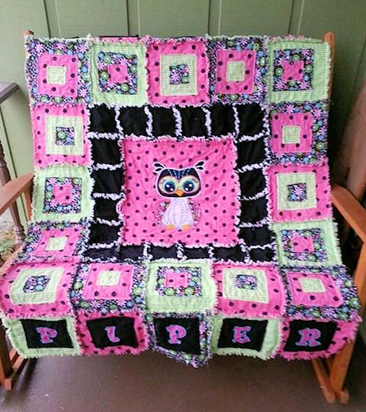 Renae Raggy Owl Quilt