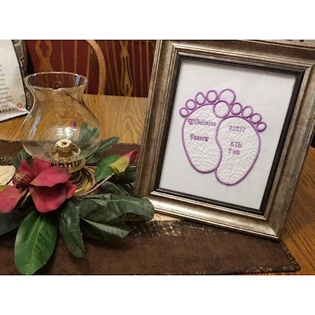 Creating a Beautiful Embroidered Birth Announcement