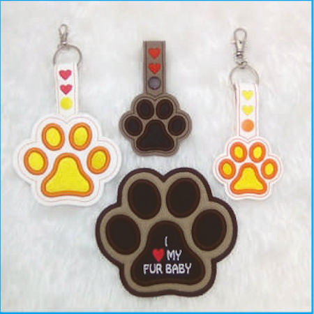 How to make Puffy Foam Paw Key Ring