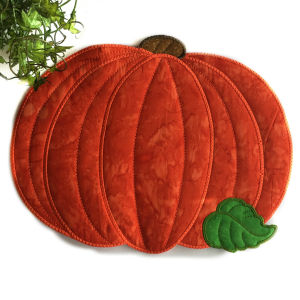 How to make Large Applique Pumpkin Placemat