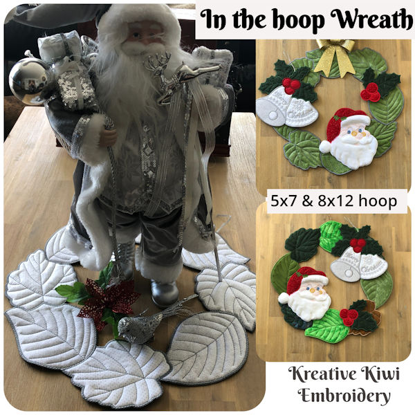 How to make Large Wreath In the hoop