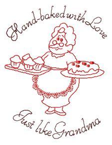 kitchen embroidery designs. Baking Grandma Kitchen Designs Machine Embroidery