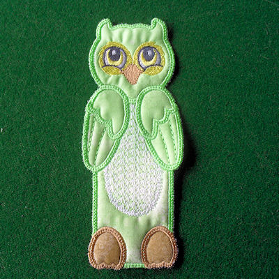 In the hoop Owl Bookmark