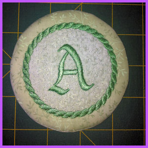In the hoop Alphabet Coasters
