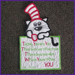Cat In The Hat Applique