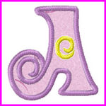 Swirly Applique Alphabet