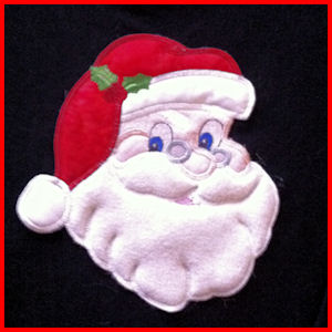 Large Santa Applique