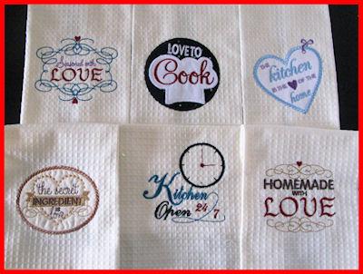 Kitchen Labels Applique Machine Embroidery Design