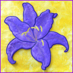 Large Lilly Applique