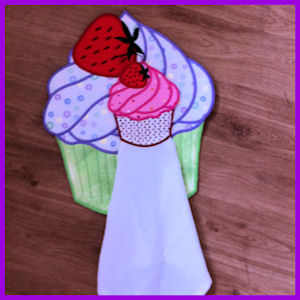 Large Cupcake Applique