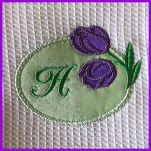 Tulip Applique Monogram