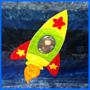 Large Rocket Applique