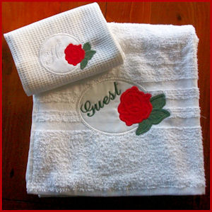 Rose Applique Alphabet