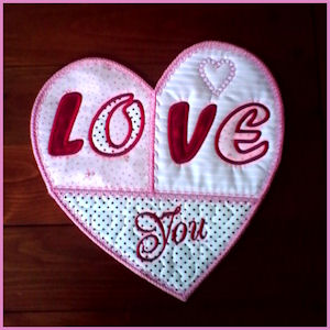Large Heart Applique