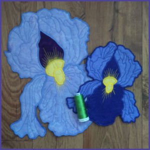 Large Iris Applique