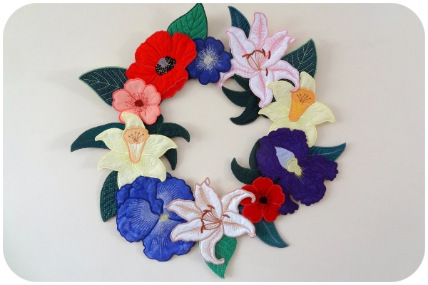 Barbara - Wreath Large Applique Flowers