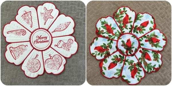 Sylvia reversable Christmas Delight Placemat