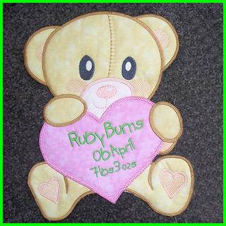 Large Teddy Applique