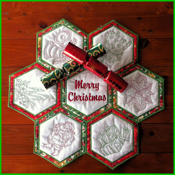 In the hoop christmas topper applique machine embroidery