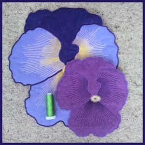 Large Pansy Applique