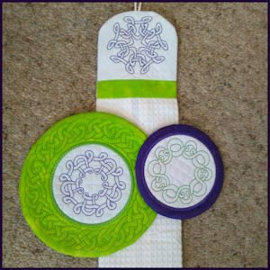 Celtic Outlines 3 (Includes ITH Coasters and Towel Topper)