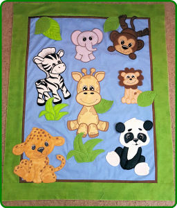 Jungle Animal Collection Large Applique Free Instant