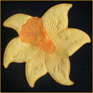 Large Daffodil Applique