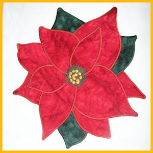 Large Poinsettia Applique