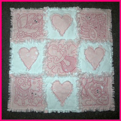 Baby Quilt Patterns Nz : Free Baby Blocks and Raggy Quilt Tutorial - Free machine embroidery designs - Kreative Kiwi