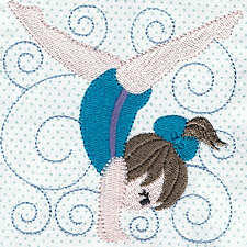 Sporty Kids Filled Applique Machine Embroidery Design
