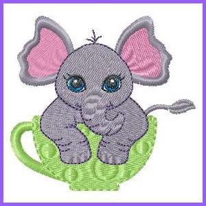 In The Hoop Animal Coasters Applique Machine Embroidery Design