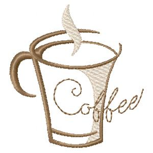 In The Hoop Coffee Coaster Set Applique Machine Embroidery Design