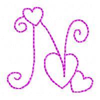 N Alphabet In Heart 4d Images  Tinkytylerorg  Stock