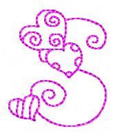 s alphabet in heart  Heart Alphabet